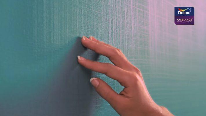 hiệu ứng xanh tím sọc ngang 711x400 - Chất lượng của sơn Dulux?