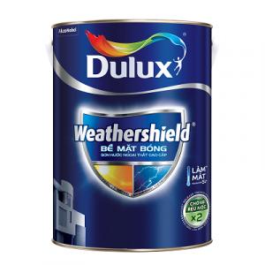 sơn dulux ngoài trời weathershield bề mặt bóng