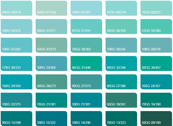 Các mầu xanh mòng két 2 - Bảng màu sơn Dulux| Quạt màu sơn Dulux
