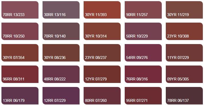 Các màu đỏ lừ và hồng nhạt 4 - Bảng màu sơn Dulux| Quạt màu sơn Dulux