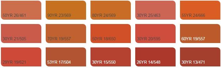 Các màu cam 4 - Bảng màu sơn Dulux| Quạt màu sơn Dulux