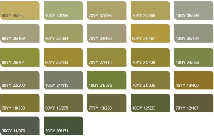Các màu chanh nhạt 2 - Bảng màu sơn Dulux| Quạt màu sơn Dulux