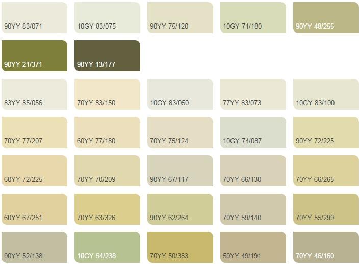 Các màu chanh nhạt - Bảng màu sơn Dulux| Quạt màu sơn Dulux