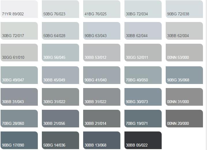 Các màu lạnh trung tính 2 - Bảng màu sơn Dulux| Quạt màu sơn Dulux