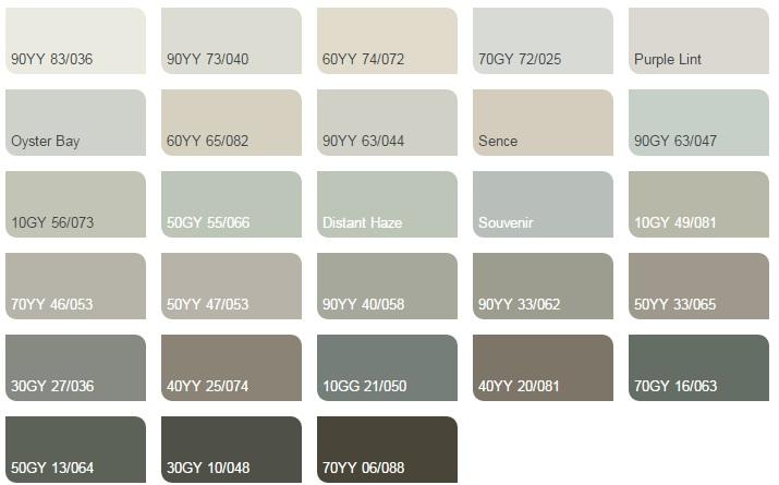 Các màu lạnh trung tính nhạt - Bảng màu sơn Dulux| Quạt màu sơn Dulux