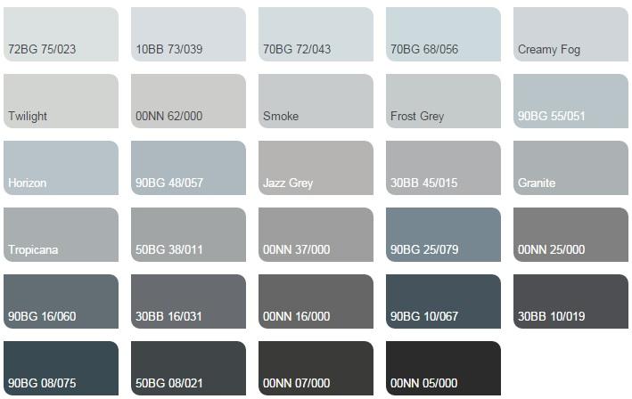 Các màu lạnh trung tính - Bảng màu sơn Dulux| Quạt màu sơn Dulux
