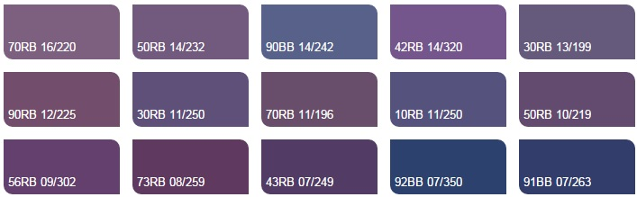 Các màu tím 4 - Bảng màu sơn Dulux| Quạt màu sơn Dulux