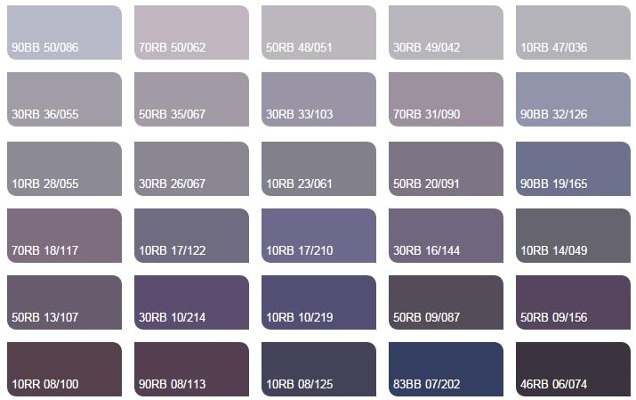 Các màu tím nhạt 2 - Bảng màu sơn Dulux| Quạt màu sơn Dulux