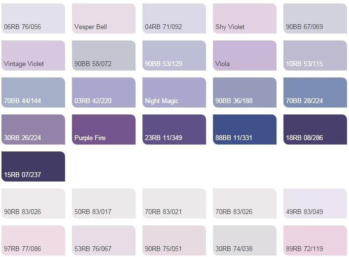 Các màu tím - Bảng màu sơn Dulux| Quạt màu sơn Dulux