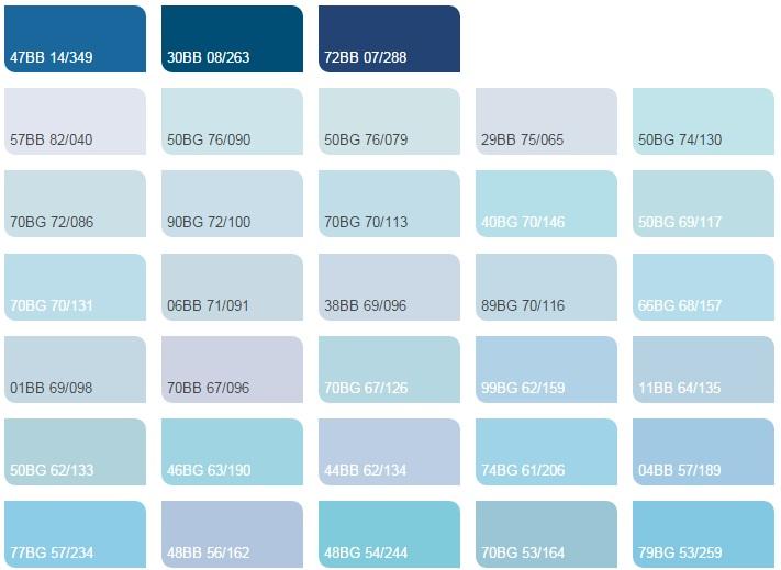 Các màu xanh da trời 2 - Bảng màu sơn Dulux| Quạt màu sơn Dulux