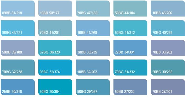 Các màu xanh da trời 3 - Bảng màu sơn Dulux| Quạt màu sơn Dulux