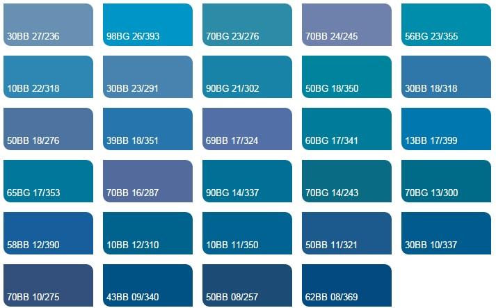 Các màu xanh da trời 4 1 - Bảng màu sơn Dulux| Quạt màu sơn Dulux