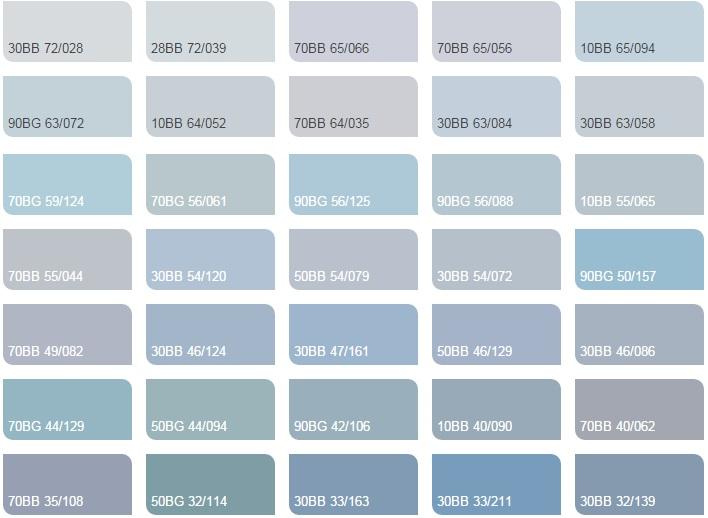 Các màu xanh da trời nhạt 2 - Bảng màu sơn Dulux| Quạt màu sơn Dulux