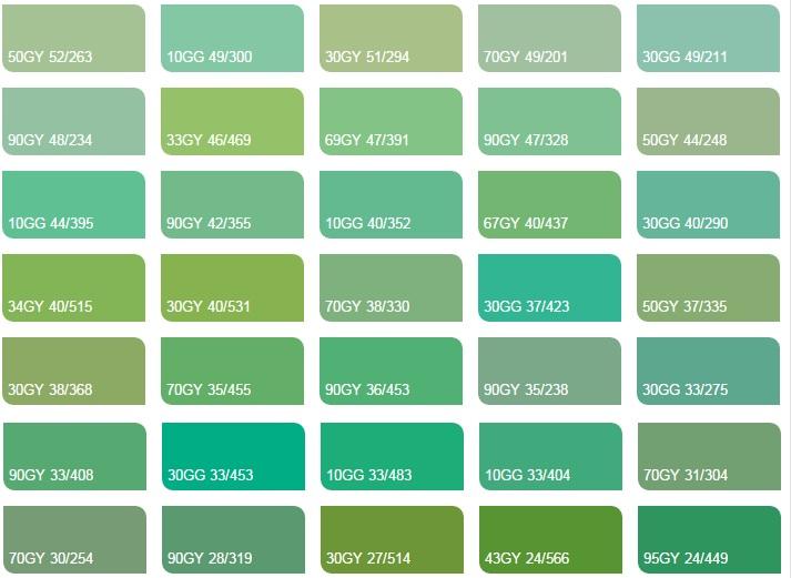 Các màu xanh lá 3 - Bảng màu sơn Dulux| Quạt màu sơn Dulux