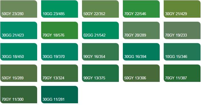 Các màu xanh lá 4 - Bảng màu sơn Dulux| Quạt màu sơn Dulux