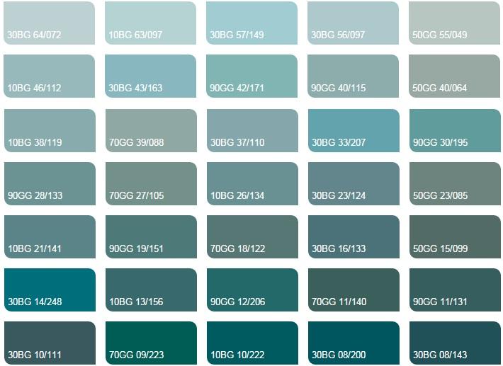 Các màu xanh mòng két nhạt 2 - Bảng màu sơn Dulux| Quạt màu sơn Dulux