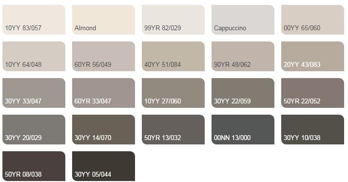 Màu nóng trung tính nhạt - Bảng màu sơn Dulux| Quạt màu sơn Dulux