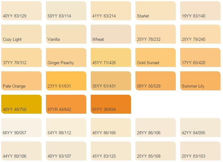 Màu vàng ánh kim - Bảng màu sơn Dulux| Quạt màu sơn Dulux