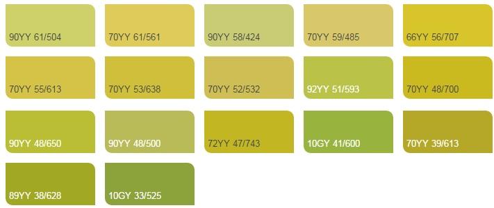 các Màu vàng chanh 2 - Bảng màu sơn Dulux| Quạt màu sơn Dulux