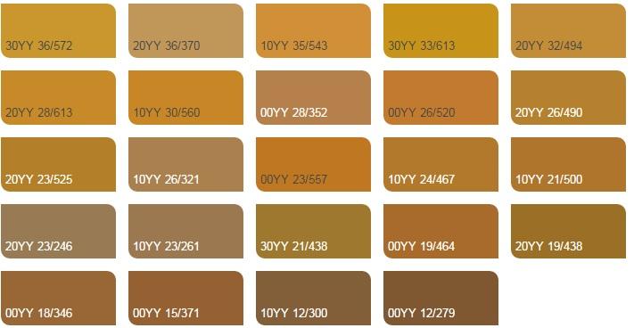 vàng ánh kim nhạt 3 - Bảng màu sơn Dulux| Quạt màu sơn Dulux