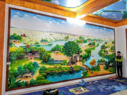 sơn tường 3D cảnh làng quê lớn 533x400 - Chất lượng của sơn Dulux?