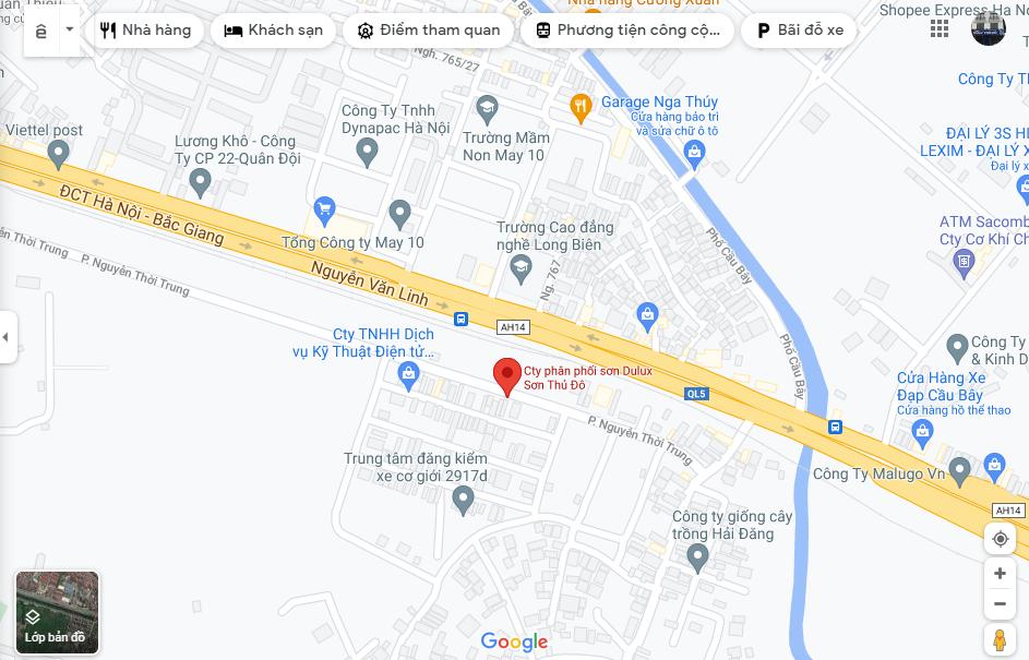 địa chỉ công ty Dulux Thủ Đô